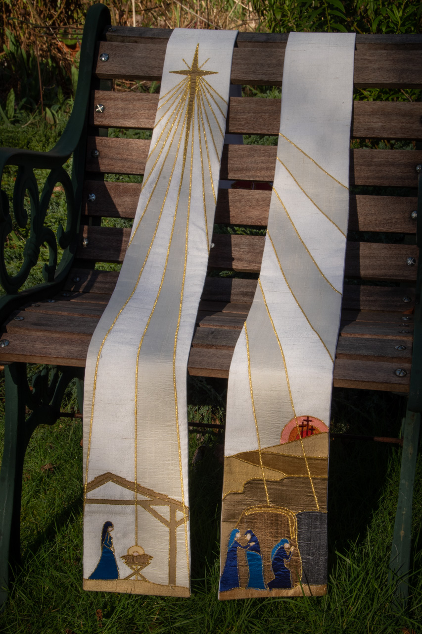 New Life White Stole