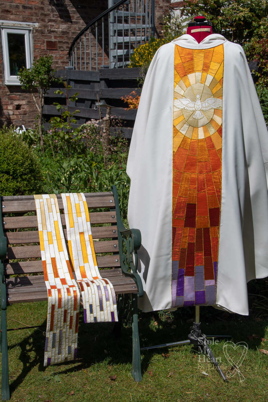 Dove and Candle Stole and Chasuable