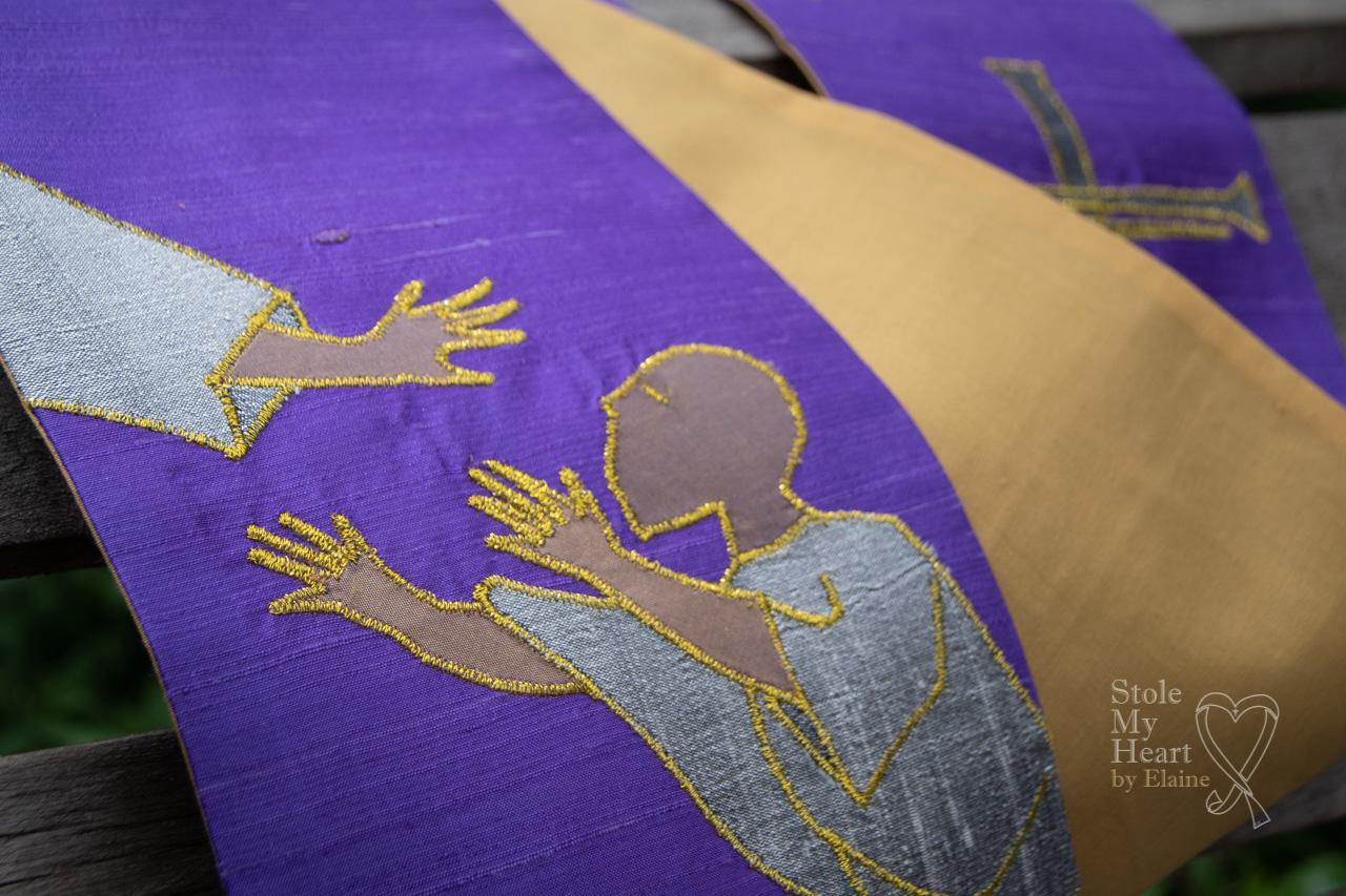 Purple Braile Stole