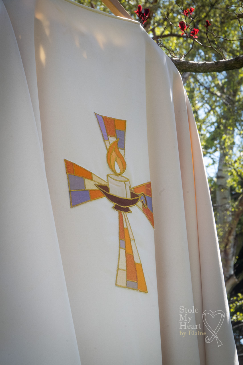 Dove and Candle Chasuable