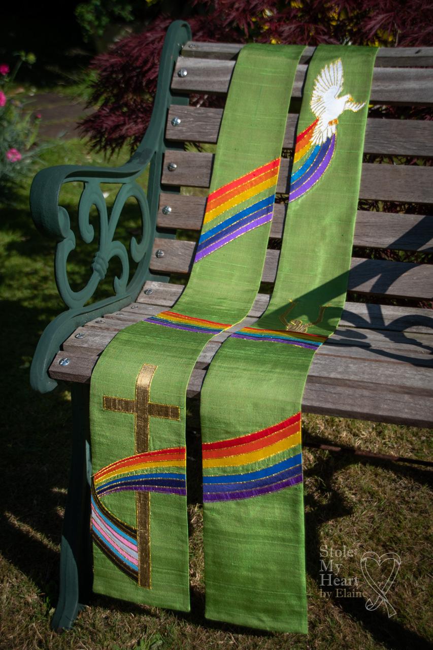 Green Rainbow Stole